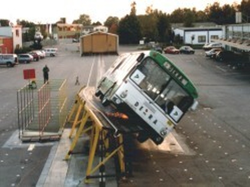 Screw rollover with trucks or buses